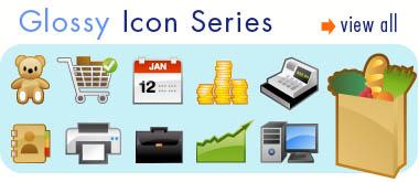 Glossy Icons Vector Art