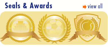 Seals & Awards Vector Art