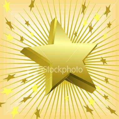 3D gold star