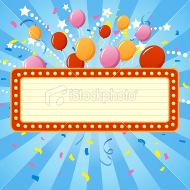 Celebration Billboard Vector