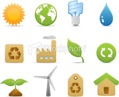 Stock Vector: Environmental Icons (Matte Series)