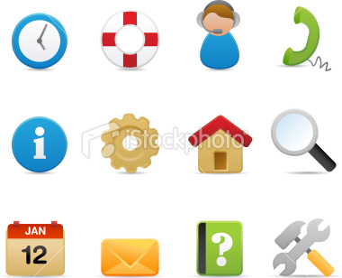 Stock Vector: Help and support Icons (Matte Series)