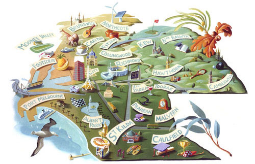 bill wood map illustration