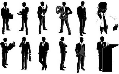 12-free-vector-businessman-silhouettes