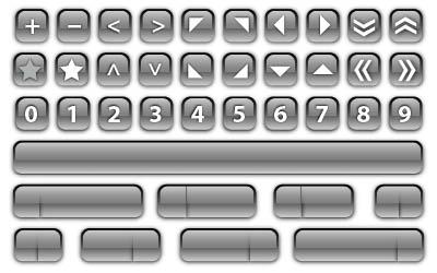 72 glass buttons