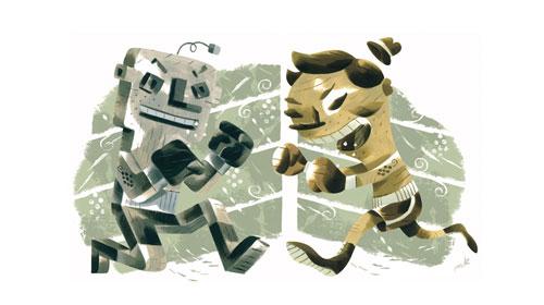 sports boxing cartoons