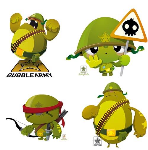cute character BubbleArmy