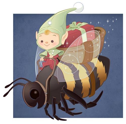 cute character Gift Elf