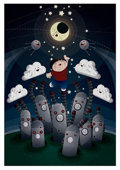 cute character dreaming