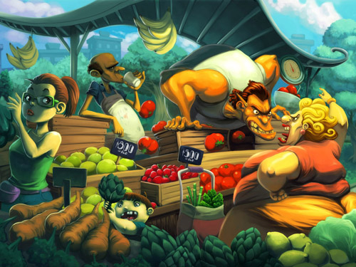 Vegetable shop