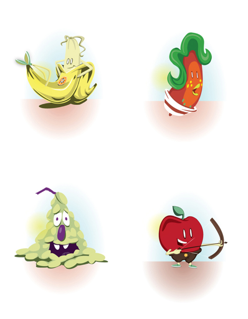Fresh Fruit Character Design
