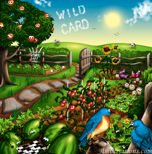 30 inspiring fruits and vegetables vector illustrator for Fruit and vegetable garden