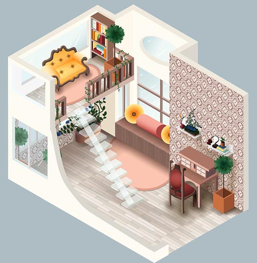 30 inspiring interior illustrations illustrator tutorials tips