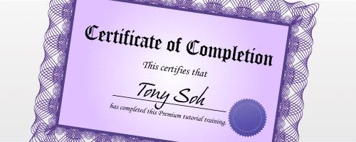 illustrator certificate design