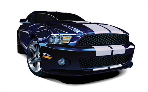 car images. Learn to create this photorealistic vector Mustang car in this new
