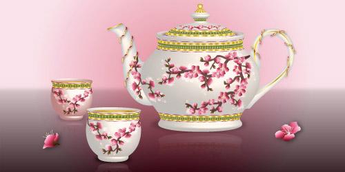 oriental tea pot