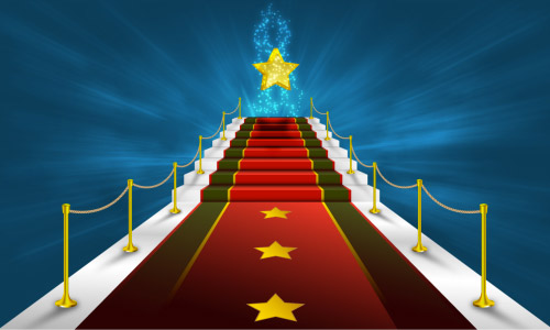 red carpet glittering star