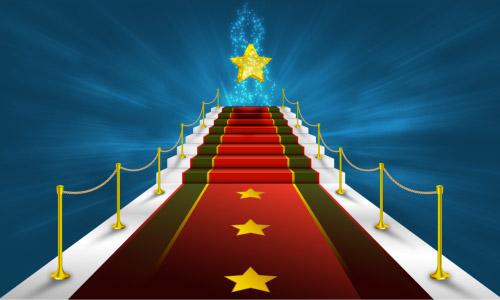 red carpet glittering star