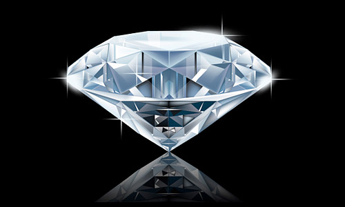 photorealistic diamond