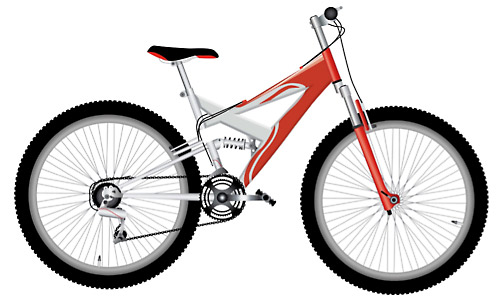 vector red bike