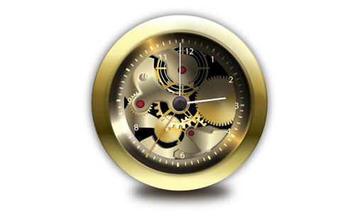 mechanical clock.