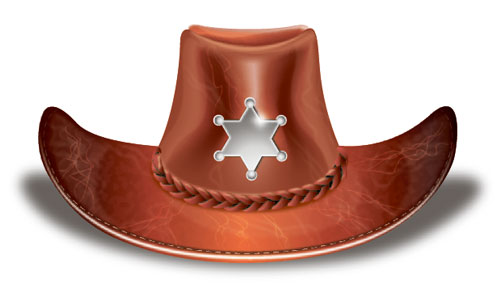 a leather hat