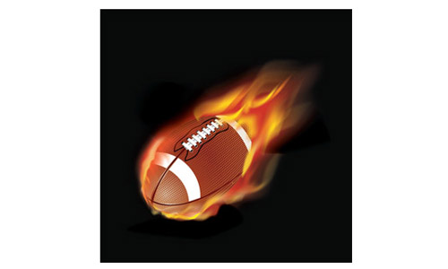 football flames