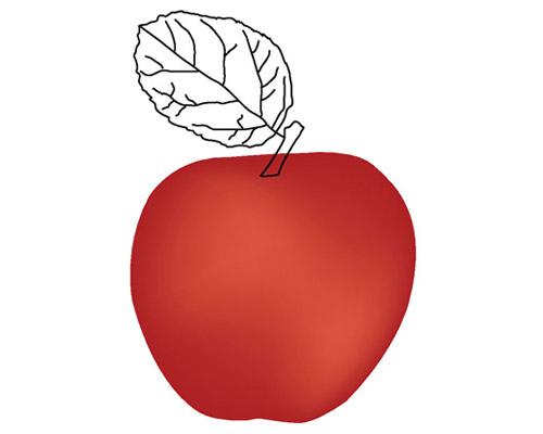 photorealistic apple