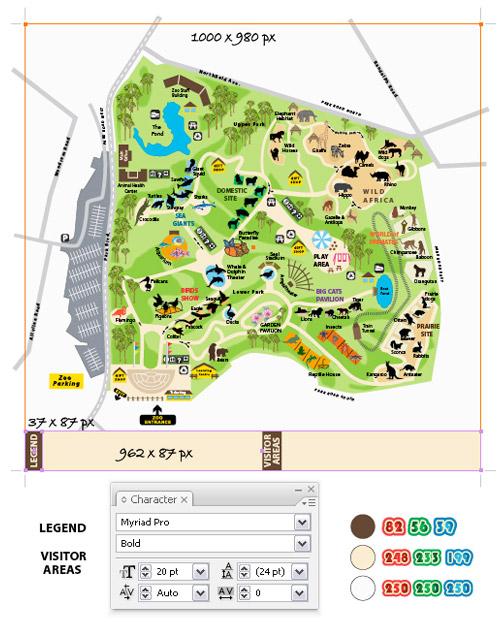 vector map drawing