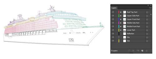 Premium Tutorial Cruise Ship Illustrator Tutorials Tips - Draw a cruise ship