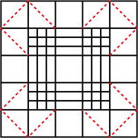 screenshot of block to divide into triangles