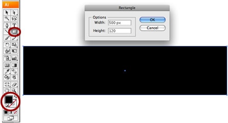 Screenshot of black rectangle with options