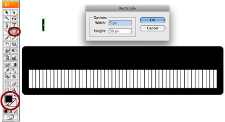 Screenshot of black key rectangle