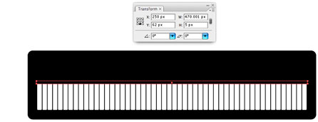 Screenshot of position black strip