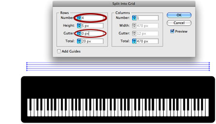 Illustrator Tutorial Drawing A Piano Keyboard