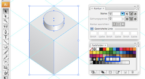 how to draw and colour shape in illustrator