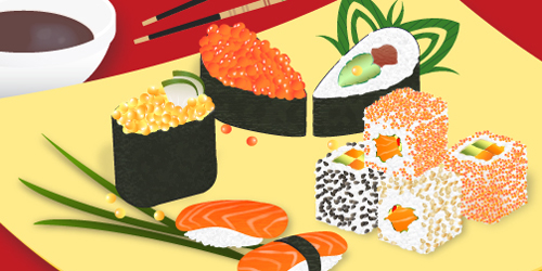 how to draw realistic sushi