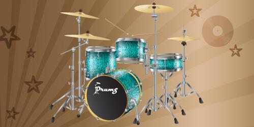 vector drums kit