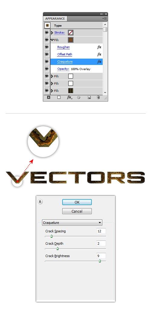 rusty metal text effect