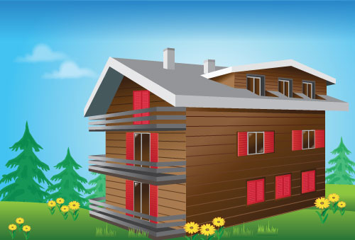 cozy wooden house
