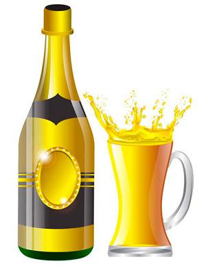 vector wine glss