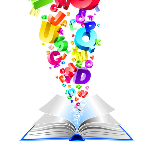 vector book alphabets