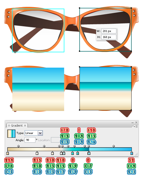 58fd8b35927 Illustrator Tutorial: Create a Summer Sunglasses | - Illustrator ...