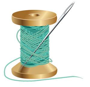 reel with needle
