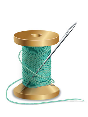 reel with needle