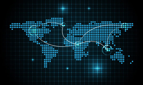 Digital Map Of The World.Illustrator Special Effects 2 Digital World Map Background