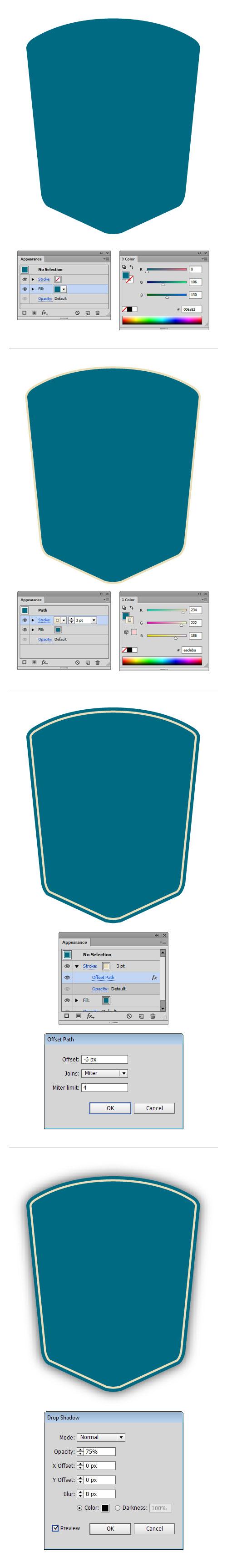 vintage badge background