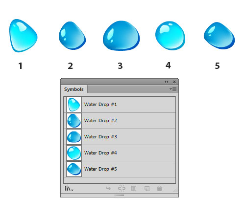 Illustrator Special Effects: Water Drops Background