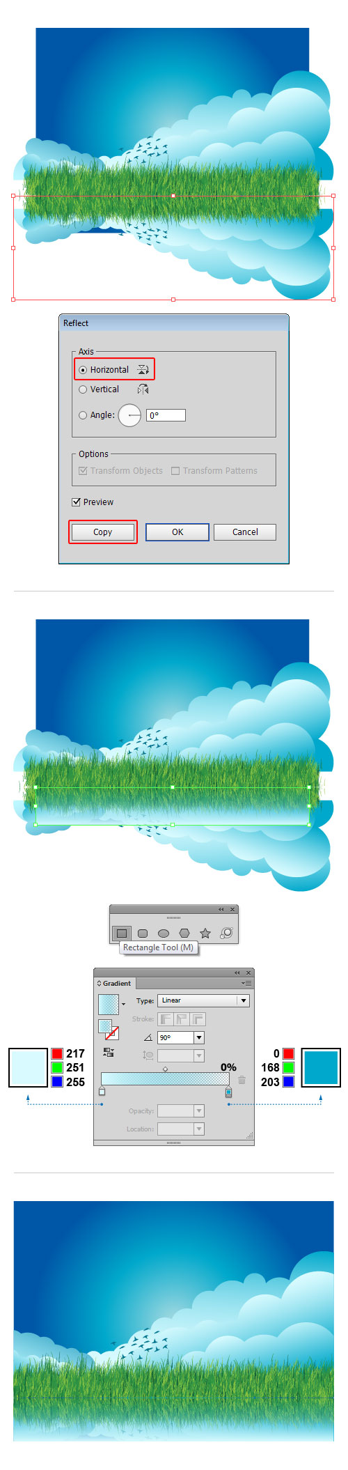 cloud grass background