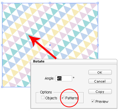 Illustrator Tip #12: Transform Pattern | - Illustrator